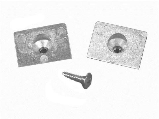 Mariner Mercury square gearcase anode, Part Number 97-42121Q02