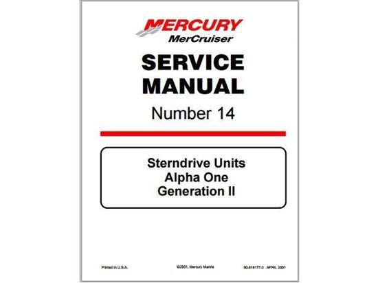 Mercruiser Alpha One Gen 2 Service Manual, Part Number 90-8M0065951