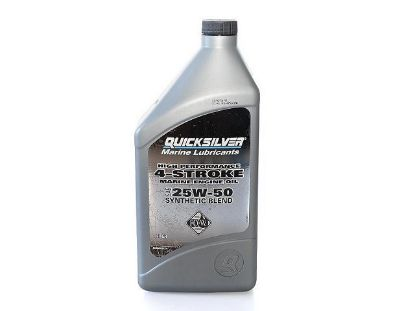 Quicksilver 4 stroke 25W50 synthetic Verado engine oil, Part Number 92-8M0096256