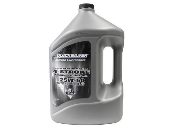 Quicksilver 4 stroke Synthetic 25W50  Verado Engine oil, Part Number 92-858084QE1