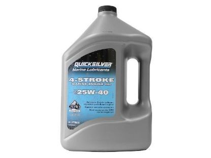 Quicksilver 25W-40 engine oil, 4 Litres, Part Number 92-8M0086224