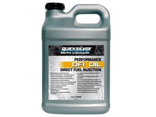Picture of Quicksilver Optimax DFI 2 Stroke Outboard Oil, 10 Litres, Part Number 92-858038QB1