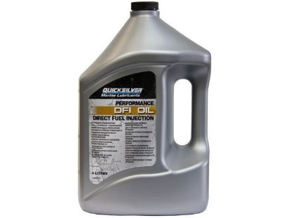 Quicksilver Optimax DFI 2 cycle outboard oil, 4 Litres, Part Number 92-858037QB1