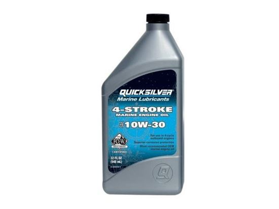 Quicksilver 10W30 4 stroke outboard oil 1 Litre, Part Number 92-8M0086220