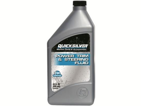 Quicksilver Power Trim and Steering Fluid 1 Litre, Part Number 92-858075QB1