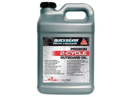 Picture of Quicksilver Premium 2 Stroke Oil 10 Litres, Part Number 92-858023QB1