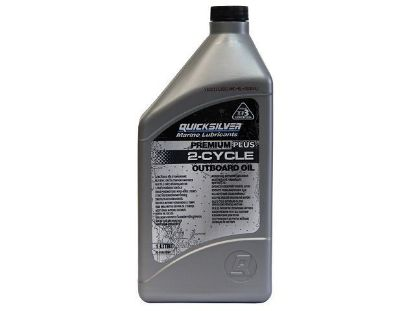 Picture of Quicksilver Premium Plus Two Stroke Oil 1 Litre, Part Number 92-858026QB1