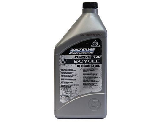 Picture of Quicksilver Premium Plus Two Stroke Oil 1 Litre, Part Number 92-858026QB1
