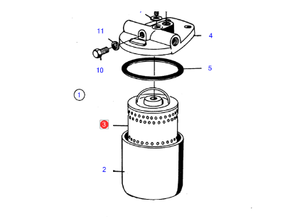 Volvo Penta Diesel Fuel Filter Insert, Part Number 23686345