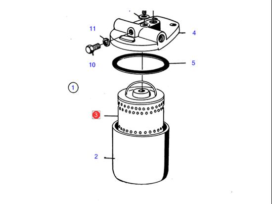 Picture of Volvo Penta Diesel Fuel Filter Insert, Part Number 876554