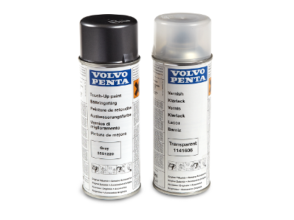 Volvo Penta Sterndrive spray paint in grey plus clear varnish for DPX, Part Number 3851220