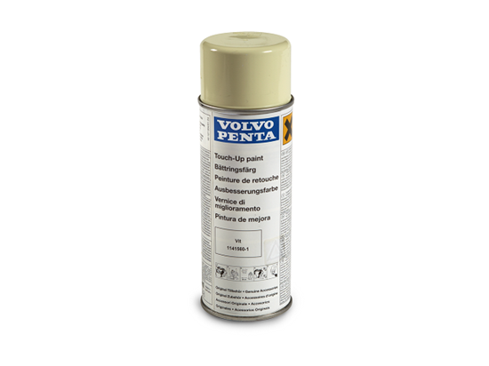 Volvo Penta Sterndrive touch up spray paint in white, Part Number 1141560