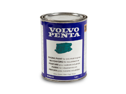 Volvo Penta engine touch up paint in matt green, 1 litre, Part Number 22618344