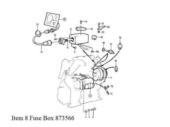 Picture of Volvo Penta Fuse Block Part Number 873566