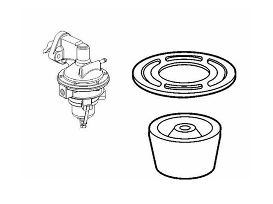 Volvo Penta petrol engine fuel pump filter, Part Number 3855104