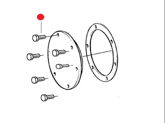 Volvo Penta seawater Impeller pump screw kit, Part Number 21951334