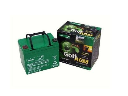 Lucas 12V, 34AH  AGM-GEL Marine Outboard Battery