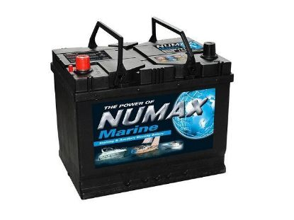 Numax Marine Cranking and Leisure battery MV22MF, 12 Volt 75 Amp Hr
