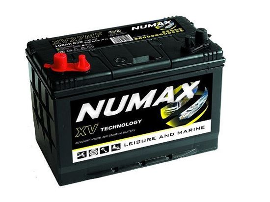 Picture of Numax Marine Cranking and Leisure battery, XV27MF, 12 Volt 100 Amp Hr CXV