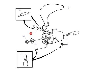 Picture of Volvo Penta Folding Propeller Hub Lock Washer for M16 Shaft, Part Number 873475