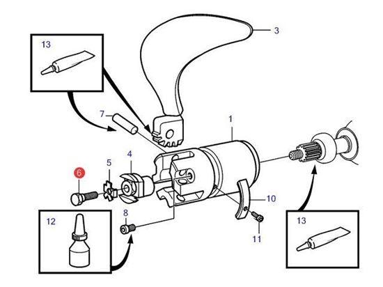 Picture of Volvo Penta Folding Propeller Saildrive Hub Bolt, Part Number 946730