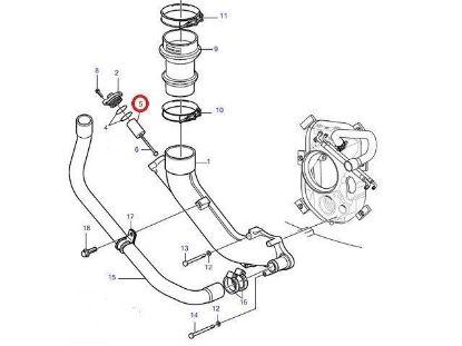 Volvo Penta DPH, DP-R Zinc exhaust anode, Part Number 21868040