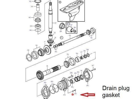 Volvo Penta DPI, DP-H drain washer gasket, Part Number 889455