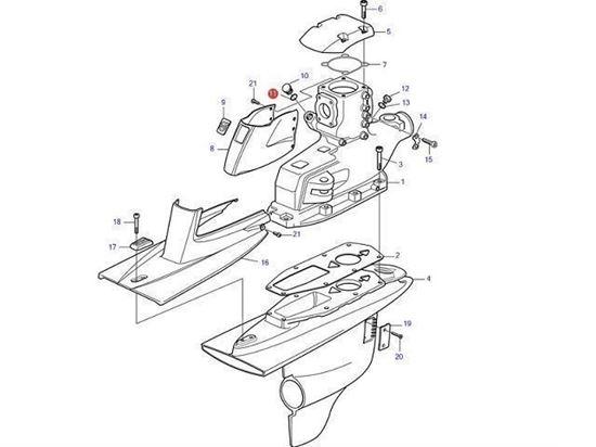 Volvo Penta DPI, DP-H, DPR, IPS gear oil filler O-Ring gasket, Part Number 949656