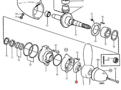 Volvo Penta 832965 rope cutter, fish line cutter
