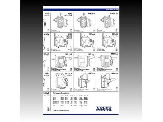 Picture of Volvo Penta Gearbox Oil Capacity Chart