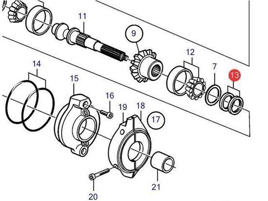 Saildrive propeller shaft sealing ring, Part Number 3593663