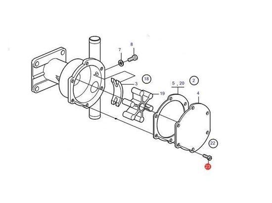 Picture of Volvo Penta Sea Water Pump Screw Kit, Part Number 21951302