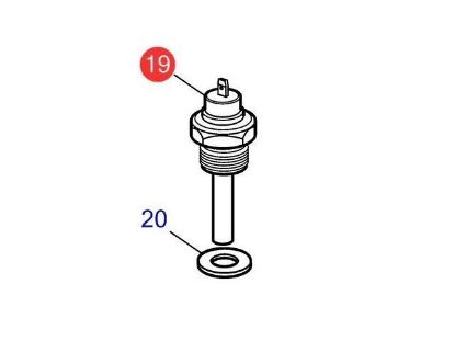 Volvo Penta temperature sender for D1-13, D1-20, D1-30, D2-40, D2-50, D2-55, D2-60, D2-75, Part Number 827151