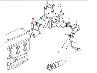 Picture of Volvo Penta  D2-55, D2-50, D2-60 Exhaust Elbow Gasket, Part Number 888596