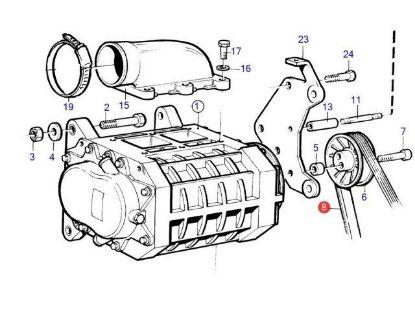 Volvo Penta Compressor Drive Belt for KAD42, KAD43, KAD44 engines, Part Number 860388