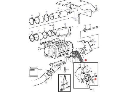 Volvo Penta Compressor Drive Belt for KAD32 engines, Part Number 3581460