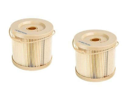 Volvo Penta 10 micron fuel filter insert twin pack, part number 861014
