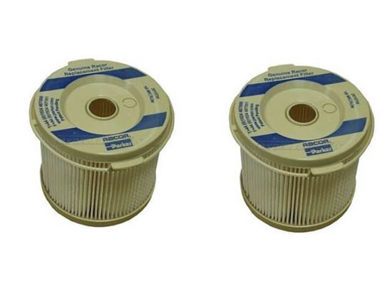 Racor 2010TM 10 micron diesel fuel filter insert twin pack