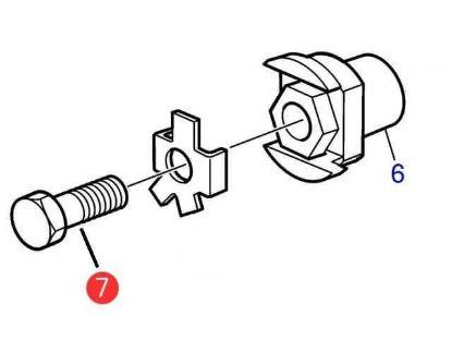 Volvo Penta folding propeller Saildrive hub bolt, Part Number 946730