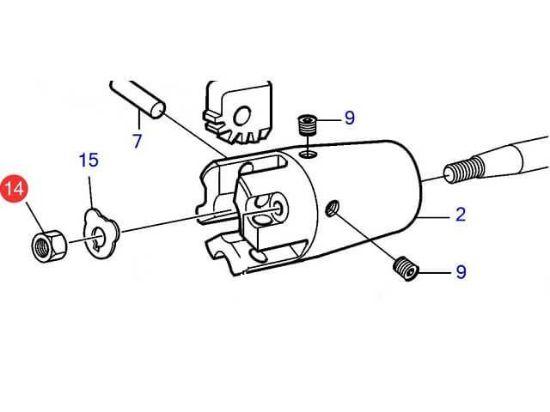Volvo Penta M16 folding propeller shaft nut, Part Number 873473