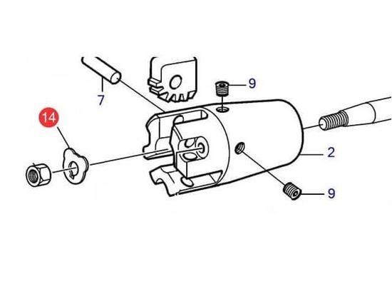 Volvo Penta M16 lock tab washer for a folding propeller hub, Part Number 873475