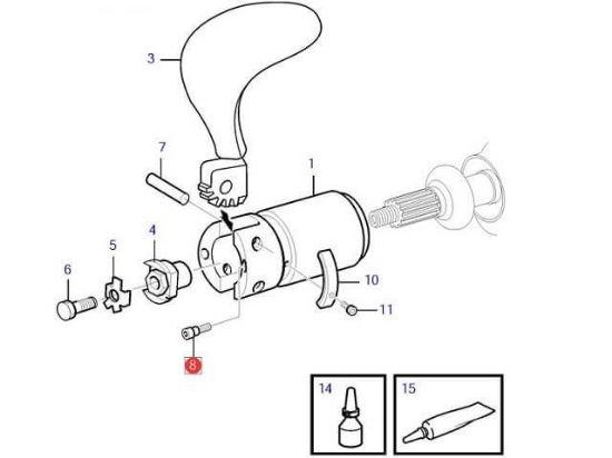 Volvo Penta 2 blade folding hub hex screw, Part Number 3595221