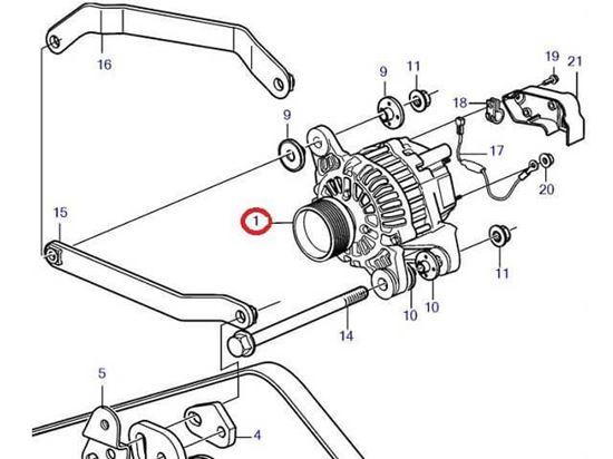 Volvo Penta alternator, Part Number 3840181