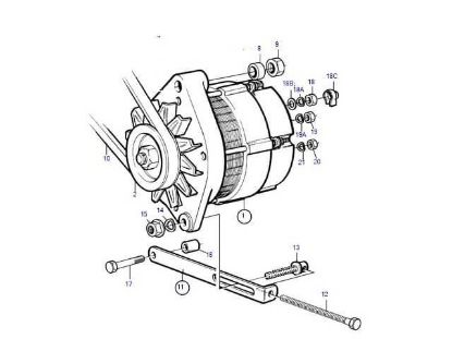 Volvo Penta Alternator, part number 873770