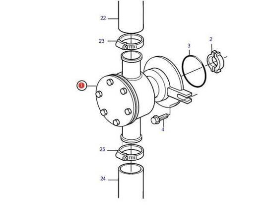 Volvo Penta KAD series seawater impeller pump, Part Number 3583115