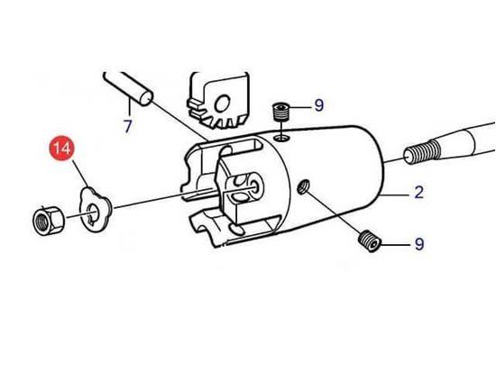 Volvo Penta M24 lock tab washer for a folding propeller hub, Part Number 873506