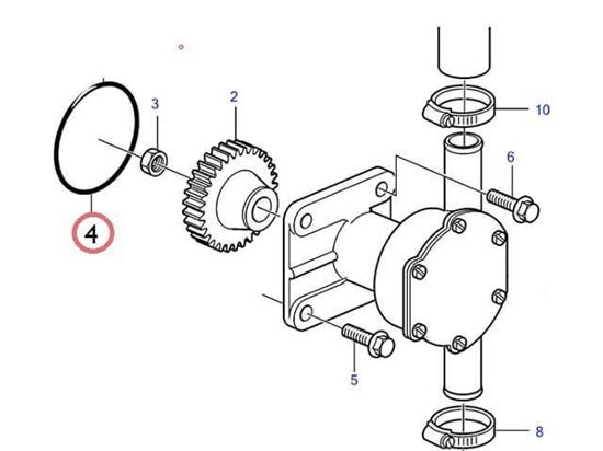 Volvo Penta D1-13, D1-20 and MD2010, MD2020 Series Seawater Pump O Ring , Part Number 3580063