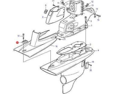 Volvo Penta Aluminium cavitation plate anode for DP-H, Part Number 3588748