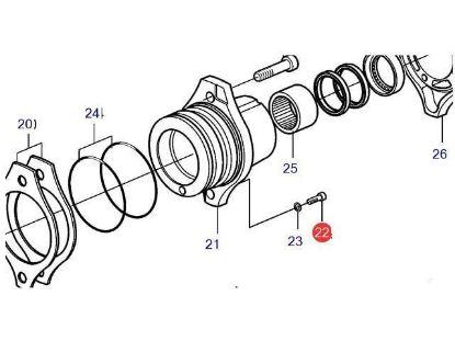 Volvo Penta DPI, DP-H, DP-R drain plug, Part Number 984450