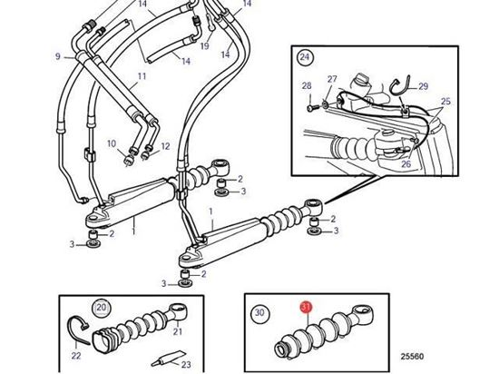 Volvo Penta DP-H, DPI, DP-R Steering Cylinder Bellows kit, Part Number 3594036